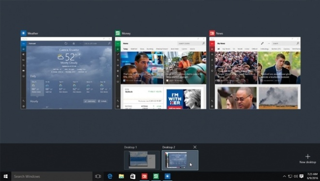 Windows 10 osnove: Multidesktop