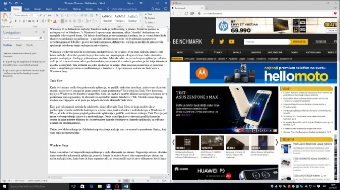 Windows 10 osnove: Multitasking