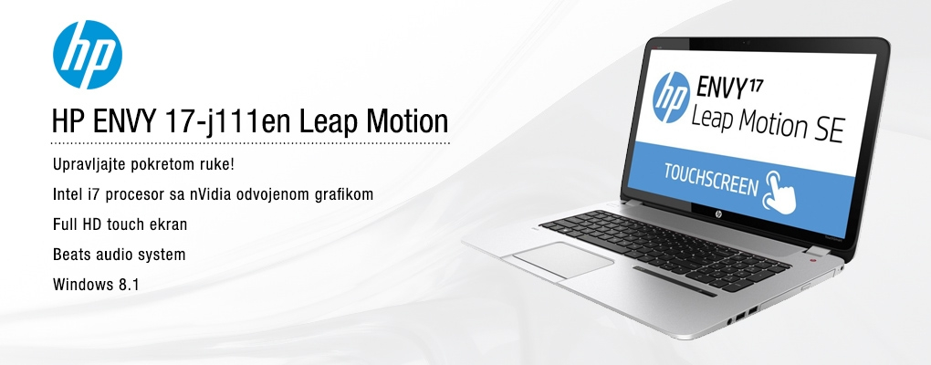 HP Envy 17 Leap Motion TS SE