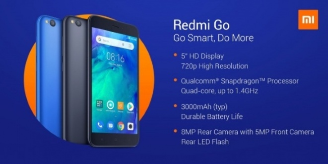 Redmi Go is officially priced at 80 euros.