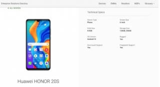 Honor 20S stiže uz Android 10, do 256GB skladišnog prostora