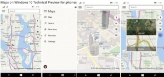 Windows 10 for phones Technical Preview sadrži Maps aplikaciju koja integriše Bing Maps i HERE